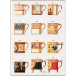 "19.5""X14"" 18 Count - Cups On Aida Counted Cross Stitch Kit"