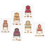 "5.5""X7.5"" 18 Count - Six Chairs On Aida Counted Cross Stitch Kit"