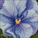"""3.75""""X3.75"""" 18 Count - Pansy VII On Aida Counted Cross Stitch Kit"""