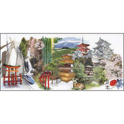 """31""""X13.75"""" 18 Count - Japan On Aida Counted Cross Stitch Kit"""