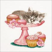 """12.25""""X11.75"""" 16 Count - Sweet As Sugar On Aida Counted Cross Stitch Kit"""