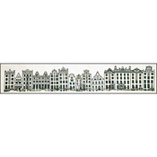 "9""X39.25"" 16 Count - City Street Amsterdam On Aida Counted Cross Stitch Kit"