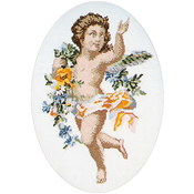 "9.75""X14"" 12 Count - Poetry Cherubs II On Aida Counted Cross Stitch Kit"