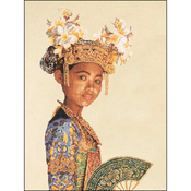 "13.75""X17.75"" 18 Count - Balinese Dancer Small On Aida Counted Cross Stitch Kit"
