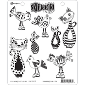 """Cat Among Pigeons - Dyan Reaveley's Dylusions Cling Stamp Collections 8.5""""X7"""""""