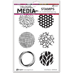 "Circle Patterns - Dina Wakley Media Cling Stamps 6""X9"""