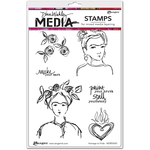 "Homage To Frida - Dina Wakley Media Cling Stamps 6""X9"""