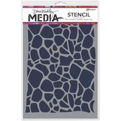 """Cellular - Dina Wakley Media Stencils 9""""X6"""""""