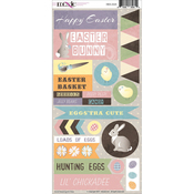 Hoppy Easter Cardstock Stickers