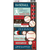 Baseball - Play Ball Cardstock Stickers