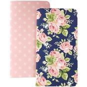"Floral & Stars W/80 Pink Sheets - Color Crush Traveler's Planner Notebooks 8.25""X4.25"" 2/Pkg"