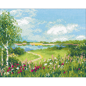 """11.75""""X9.5"""" 10 Count - Path To The Lake Counted Cross Stitch Kit"""