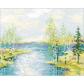 """11.75""""X9.5"""" 10 Count - Estuary Counted Cross Stitch Kit"""