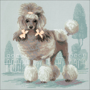 """9.75""""X9.75"""" 14 Count - Poodle Counted Cross Stitch Kit"""