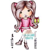 "Birthday Gift Molli - La-La Land Cling Stamps 4.5""X3.5"""