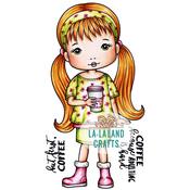 "Molli With Coffee - La-La Land Cling Stamps 4.5""X3.5"""