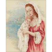 """15.75""""X19.75"""" 14 Count - Tender Gaze Counted Cross Stitch Kit"""