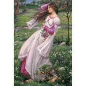 """11.75""""X17.75"""" 14 Count - Windflowers After J.W. Waterhouse's Counted Cross Stitch Kit"""