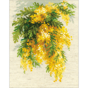 """7""""X9.5"""" 14 Count - Mimosa Counted Cross Stitch Kit"""