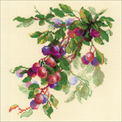 """11.75""""X11.75"""" 10 Count - Branch Of Plum Counted Cross Stitch Kit"""