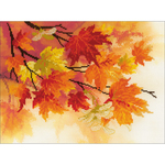 "15.75""X15.75"" - Autumn Colors Stamped Cross Stitch Kit"