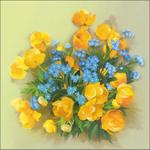 """8""""X8"""" - Globe Flowers Stamped Cross Stitch Kit"""