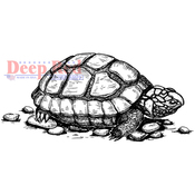 "Tortoise - Deep Red Cling Stamp 3.2""X1.5"""