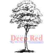 """Cottonwood Tree - Deep Red Cling Stamp 2""""X3.1"""""""