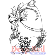 "Easter Eggs - Deep Red Cling Stamp 2.1""X3"""