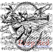 """Spring Compliation - Deep Red Cling Stamp 3""""X3.1"""""""