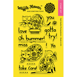 """Flora Cat - Waffle Flower Crafts Clear Stamps 4""""X6"""""""