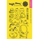 "Hello Stampurr - Waffle Flower Crafts Clear Stamps 4""X6"""