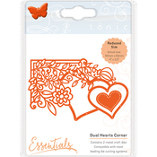 Dual Hearts - Tonic Studios Fanciful Floral Die