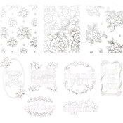 Delicate Floral - Tonic Studios Craft Perfect Cards