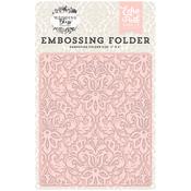 Wedding Bliss, Dainty Damask - Echo Park Embossing Folder