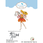 Garden Notes Fairy - Tiger Lily - Elizabeth Craft Metal Die By Susan's Garden Club