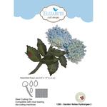 Garden Notes Hydrangea 2 - Elizabeth Craft Metal Die By Susan's Garden Club
