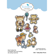 Teddy Bear Picnic - Elizabeth Craft Metal Die By Krista Designs