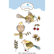 Feathered Friends - Elizabeth Craft Clear Stamps By Krista Designs