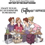 """Crafty Girls - Art Impressions Girlfriends Cling Rubber Stamps 10""""X4.5"""""""