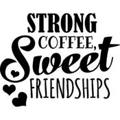 """Strong & Sweet - Art Impressions Girlfriends Cling Rubber Stamp 3.25""""X2.75"""""""
