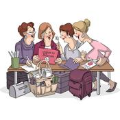"""Crafty Girls - Art Impressions Girlfriends Cling Rubber Stamp 3.25""""X2.75"""""""
