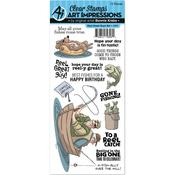 Reel Great Guys - Art Impressions Work & Play Cling Rubber Stamp