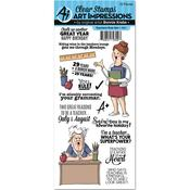 Teachers Rule - Art Impressions Work & Play Cling Rubber Stamp