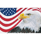 "17.25""X10.5"" 12 Count - American Eagle On Aida Counted Cross Stitch Kit"