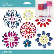 Bright Flowers Bling Dimensional Stickers - Jolees