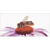 "17.75""X8.25"" 18 Count - Bee On Echinacea On Aida Counted Cross Stitch Kit"