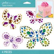 Butterflies Bling Dimensional Stickers - Jolees