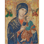 "10""X12.5"" 18 Count - Our Lady Of Perpetual Help On Aida Counted Cross Stitch Kit"