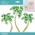 Palm Trees Bling Dimensional Stickers - Jolees